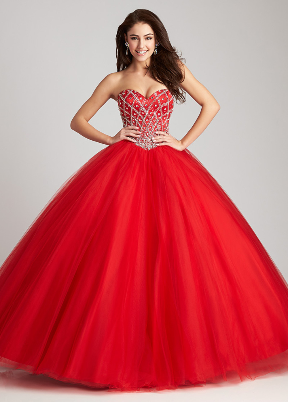 0b7b2df297 Tulle Ball Gown Quinceanera Dresses