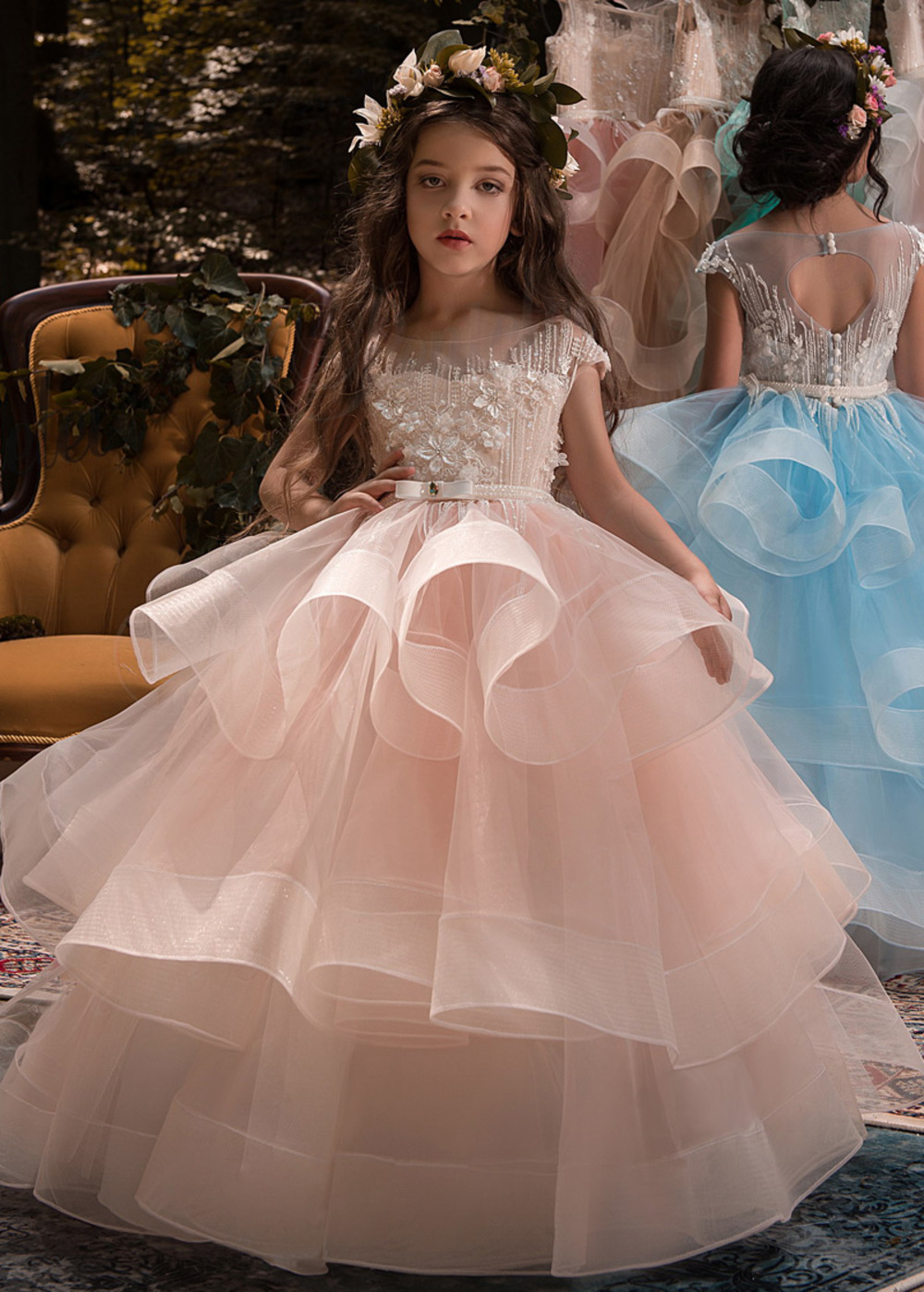 Chic Tulle & Elasticated Net Bateau Neckline Cap Sleeves Ball Gown ...