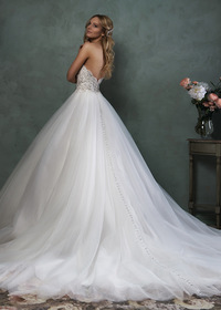 Chic Tulle Sweetheart Neckline Natural Waistline Ball Gown Wedding Dress (WWD96538)