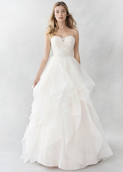 Incredibile Tulle & Satin scollatura a cuore una linea Abiti da sposa con ricamo in rilievo e increspature (WWD95853)